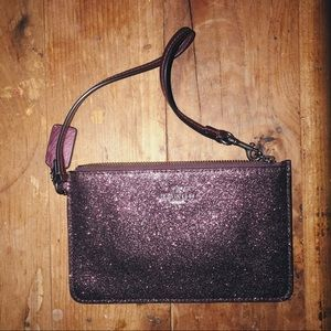 Coach Purple Glitter Wristlet